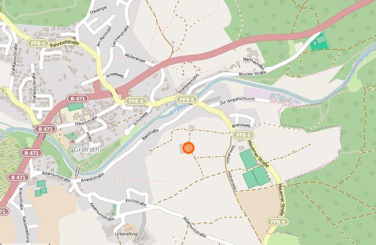 Standort Milchhaus Grafrath: Höhenweg 18, 82284 Grafrath